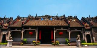 Guangzhou, Chine, l'académie de clan de Chen des bâtiments antiques photographie stock
