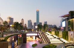 GUANGZHOU CHINY, SEP, - 13, 2016: Guangzhou miasta nowożytny pejzaż miejski fotografia royalty free
