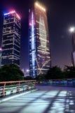 GUANGZHOU, CHINY - Sept 28: Noc widok Zhujiang Nowy miasteczko Zh Fotografia Stock