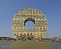 Guangzhou cirkelbyggnad fotografering för bildbyråer