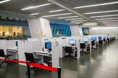 Guangzhou city library, Guangdong, china. This is the computer room inside the library, the Internet access to information purposes stock photography
