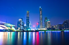 Guangzhou City Night Stock Image