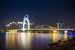 Guangzhou City Night Royalty Free Stock Photography