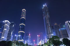 Guangzhou city night view Stock Photos