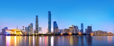 Guangzhou city skyline Royalty Free Stock Images