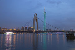 Guangzhou city after sunset Stock Images