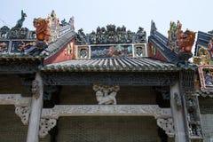 Guangzhou, de beroemde toeristische attractie van China ` s, de voorouderlijke zaal van Chen, een huis met een distinctieve archi Stock Fotografie