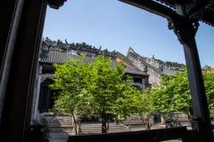 Guangzhou, de beroemde toeristische attractie van China ` s, de voorouderlijke zaal van Chen, een huis met een distinctieve archi Royalty-vrije Stock Foto's