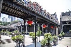 Guangzhou, de beroemde toeristische attracties van China ` s, de voorouderlijke zaal van Chen, binnen een schuilplaats van de reg Stock Foto