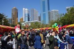 2016 Guangzhou-de bloemmarkt van de de winterjasmijn Stock Foto's