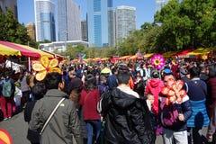 2016 Guangzhou-de bloemmarkt van de de winterjasmijn Stock Foto