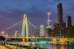 GuangZhou, de Nieuwe Stad van Zhujiang Royalty-vrije Stock Afbeelding