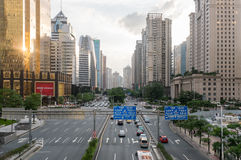 Guangzhou downtown, China stock photos