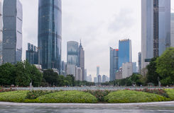 Guangzhou downtown, China stock photo