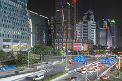Guangzhou downtown at night, China Stock Photography
