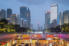 Guangzhou downtown at night, China Royalty Free Stock Image