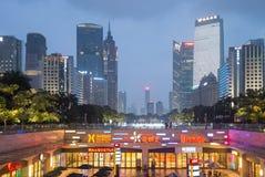 Guangzhou downtown at night, China Royalty Free Stock Image