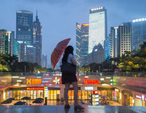 Guangzhou downtown at night, China Royalty Free Stock Photo