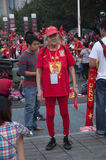 Guangzhou Evergrande win the AFC Champions League,Fans from around the country before the game photo Stock Image