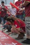 Guangzhou Evergrande wint uit het hele land de AFC Kampioenenliga, Ventilators vóór de spelfoto Royalty-vrije Stock Afbeelding