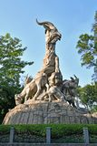 Guangzhou - fem Ram Sculpture arkivbild