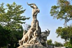 Guangzhou - fem Ram Sculpture arkivbilder