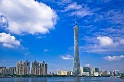 Guangzhou Fernsehkontrollturm Lizenzfreie Stockbilder