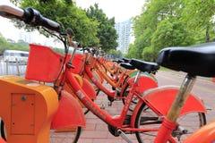Guangzhou-Öffentlichkeitsfahrräder Stockbild