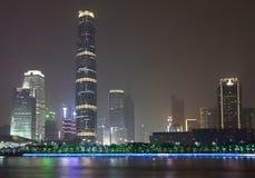 Guangzhou Finanse Międzynarodowe Centrum Zdjęcie Royalty Free