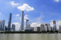 Guangzhou finansiellt område Royaltyfri Bild