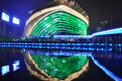 Guangzhou Gymnasium at night Stock Photography