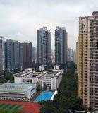 Guangzhou höga löneförhöjninglägenheter i den nya staden, Kina Royaltyfri Bild