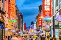 Guangzhou, het Winkelen van China Straat royalty-vrije stock afbeelding