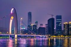 Guangzhou horisont porslin guangzhou arkivfoton