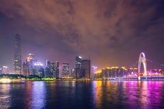 Guangzhou horisont porslin guangzhou arkivbilder