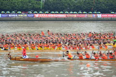 Guangzhou International Dragon Boat Invitational Tournament Arkivfoton