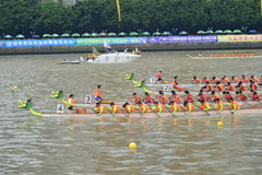Guangzhou International Dragon Boat Invitational Tournament Arkivbild