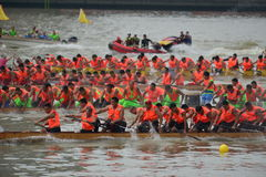 Guangzhou International Dragon Boat Invitational Tournament Arkivbilder