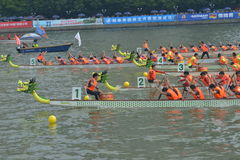 Guangzhou International Dragon Boat Invitational Tournament Royaltyfri Foto