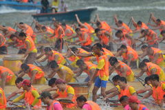 Guangzhou International Dragon Boat Invitational Tournament Royaltyfri Bild