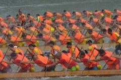 Guangzhou International Dragon Boat Invitational Tournament Royaltyfria Bilder