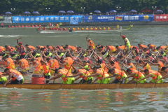 Guangzhou International Dragon Boat Invitational Tournament Arkivfoto