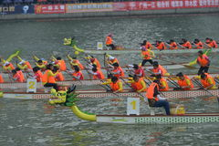 Guangzhou International Dragon Boat Invitational Tournament Fotografering för Bildbyråer