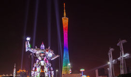 The Guangzhou International Festival of lights.Rob Royalty Free Stock Photography