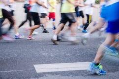 Guangzhou international marathon runner stock photography