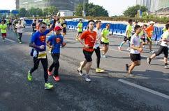 Guangzhou international marathon runner Royalty Free Stock Photo