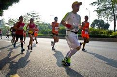 Guangzhou international marathon runner Stock Photos