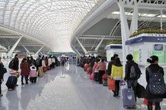 guangzhou järnväg södra station Royaltyfria Bilder