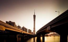 Guangzhou kantontorn Royaltyfria Bilder