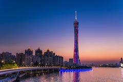 Guangzhou kantonu lub wierza wierza, formalny Guangzhou TV Astronomiczny i Zwiedzający wierza Obraz Stock